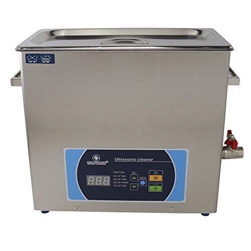 TDRFORCE Ultrasonic Cleaner Capacidad 6L de acero inoxidable con calentador  y temporizador digital para la joyería dental de laboratorio
