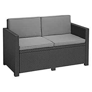 Allibert Lounge Sofa Victoria 2-Sitzer, graphit/cool grey