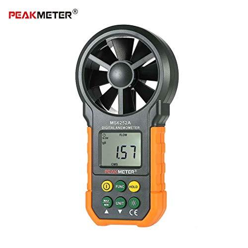 Fangfeen PEAKMETER MS6252A Handdigital-Anemometer LCD-Hintergrundbeleuchtung Air Windgeschwindigkeit Geschwindigkeitsmessgerät -