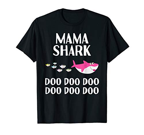 Mama Shark Doo Doo Shirt Mothers Day Matching Family Tees T-Shirt - Mama T-shirt Tee