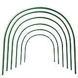 6PCS Garten, Tunnel Cloche, PE Wachsen Tunnel, Tunnel Cloche Hoops, Mini-Gewächshaus, Folientunnel Gemüse/Obst, Länge verstellbar Cloche Tunnel für Gewächshaus Zubehör
