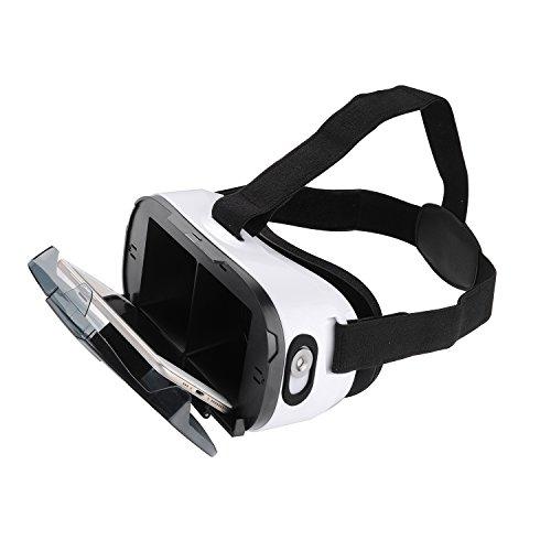 Virtual Reality 3D VR-Brille / Inspired by Google Cardboard / Mit Magnetschalter / Virtuelle Realität Headset für 4.7-6.5 Zoll Smartphones / 102 Grad Field-of-View