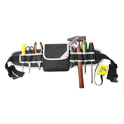 Cinturón Herramientas Portaherramientas Cinturón Profesional Ajustable Impermeable con Tela Oxford Bolsa Herramientas para Electricista Personal Técnico Ingeniero Albañiles Carpinteros Fontaneros