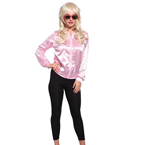 Grease Damen Gr.M FANCY DRESS Pink Ladies Jacke Jacket Sandy Fasching Karneval Halloween Kostuem