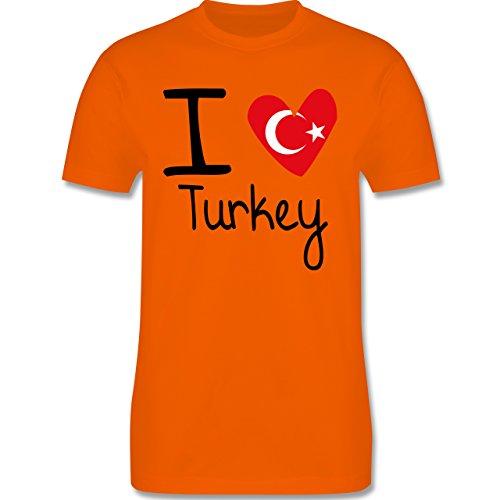 I love - I love Turkey - Herren Premium T-Shirt Orange