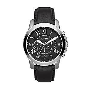 Fossil Herren Chronograph Quarz Uhr mit Leder Armband FS4812IE