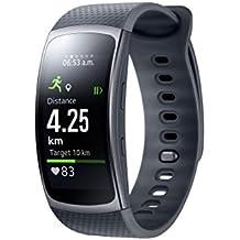 """Samsung Gear Fit II - Smartwatch de 1.5"""" con frecuencia cardíaca y notificaciones, S, color negro"""