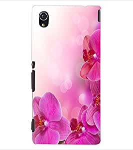 ColourCraft Lovely Flowers Design Back Case Cover for SONY XPERIA M4 AQUA