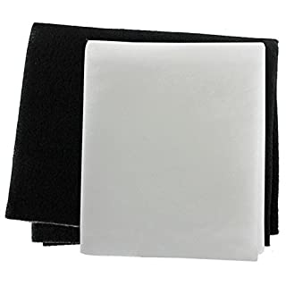 SPARES2GO Cooker Hood Grease Filter Kit for CDA Extractor Fan Vent (Pack of 2 Filters, Cut to Size)