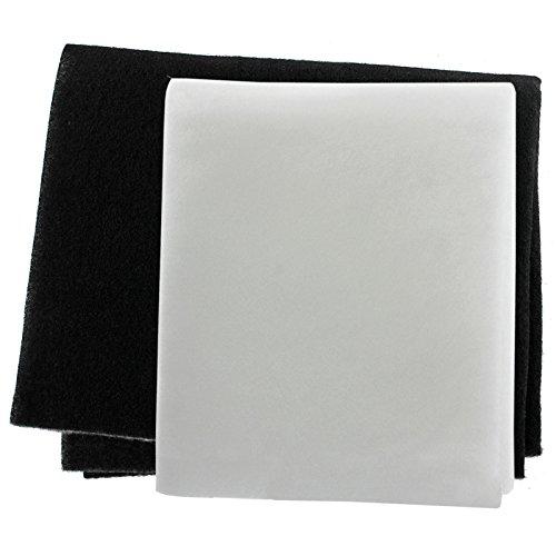 Spares2go Paquete de 2 filtros para grasa y olores para campana extractora...