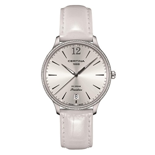 CERTINA Women's DS Dream White Leather Band Quartz Watch C021.810.66.037.00