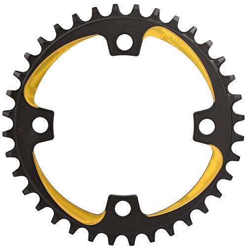 36 Einzel -, (VGEBY1 Fahrrad Kettenblätter, 3 Farben Leichte Aluminiumlegierung 104 MM 36 T Schmale Breite Einzel Fahrrad Kettenblatt für Mountainbike Radfahren Zubehör(Schwarzes Gold))