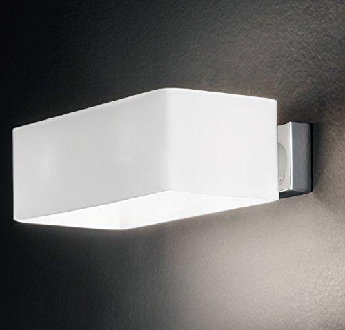 Mundgeblasenes Glas Wandlampen (MIA Light Moderne Wandleuchte Up & Down aus Glas mundgeblasen in weiß)