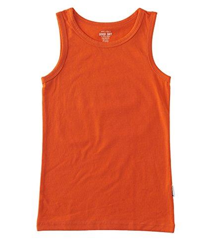 Jungen Unterhemd Top / size 8Y /122-128 uni orange-red (Jungen Label Red)