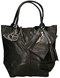 1cff437c41 Chicca Borse Bag Borsa a Mano in Pelle Made in Italy 39x36x20 cm
