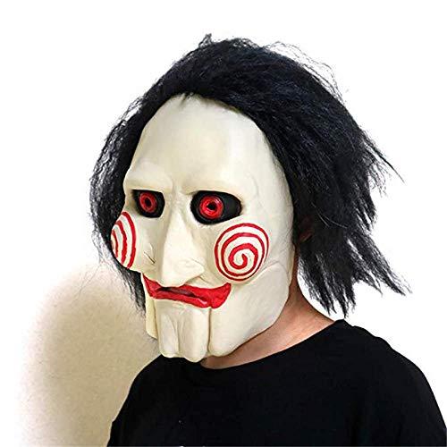 qiumeixia1 Marionette Maske Halloween Kostüm Latex Horror Clown Maske Vollmaske Scary Prop Unisex Party Cosplay - Marionette Marionetten Für Erwachsene Kostüm