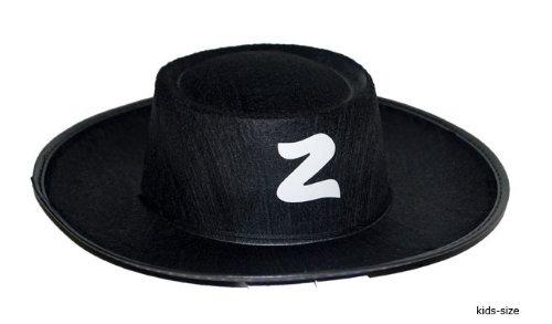 t weißen Z - Kinder (Schwarzer Zorro Hut)