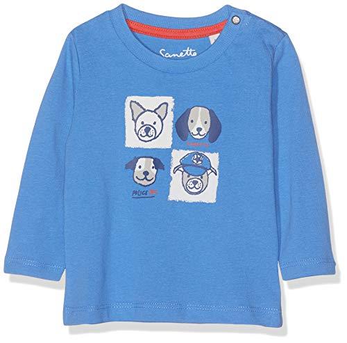 Niedliche Bio-herren-t-shirt (Sanetta Baby-Jungen Shirt Hose, Blau (Oasis 5751), 68 (Herstellergröße: 068))