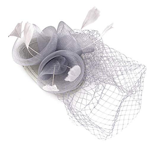 TOBEEY Fascinators für Frauen Hochzeit Kleid Pillbox Kentucky Derby Kirche ()