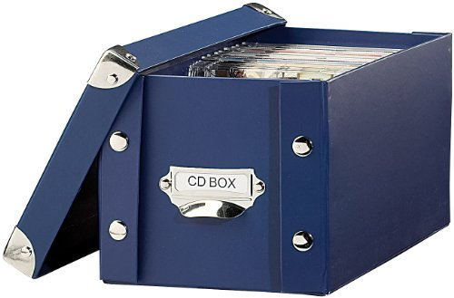 PEARL CD Archivbox: CD Archiv Box blau (CD DVD Archivboxen)