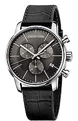 Idea Regalo - Calvin Klein Orologio da Uomo Cronografo al Quarzo con Cinturino in Pelle – K2G271C3