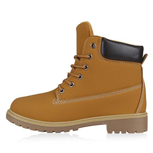 Worker Boots Unisex Damen Herren Outdoor Stiefeletten Zipper Warm Gefüttert Hellbraun Creme Braun