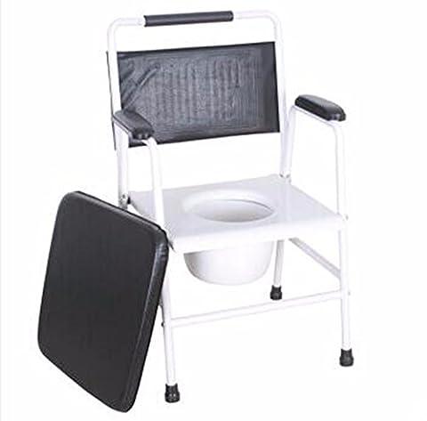 QPSSP Wc - Stuhl, Festen Stahl Alten, Behinderten - Toilette Stuhl, Schwangere Frauen Wc, Wc - Stuhl,B