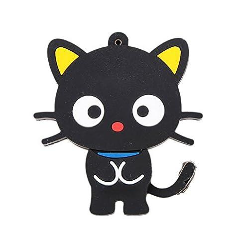 Cat Form U Disk - TOOGOO(R)Black Key USB 2.0 Flash Cat Form U Disk Model 8G High Speed Rotation Storage Player