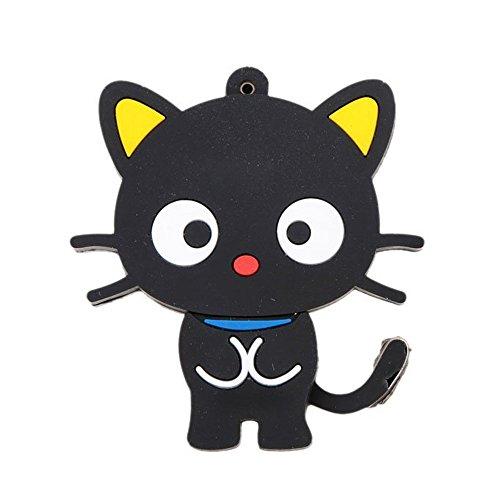 TOOGOO(R)Negro USB 2.0 en Forma de Gato Flash U Disco Modelo 16G Alta Velocidad Rotacion Almacenamiento Jugador