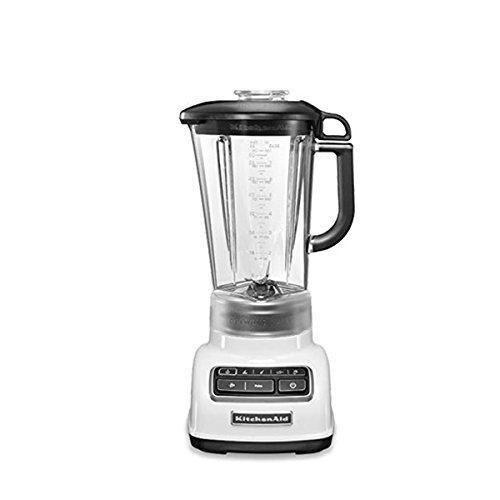 KitchenAid 5KSB1585 Batidora de vaso 1.75L 550W Blanco - Licuadora (1,75 L, 2000 RPM, 11500 RPM, Batidora de vaso, Blanco, 1,143 m)