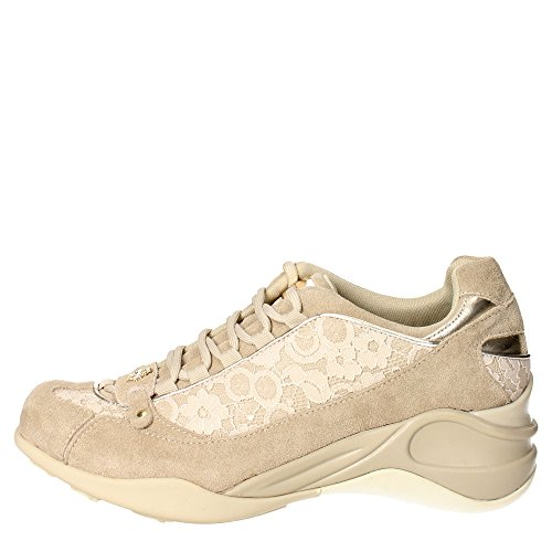 Fornarina PEFSE8922WV8700 Sneakers Femme Suède/tissu Marron Taupe Marron Taupe