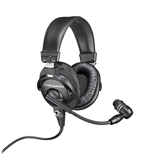 Audio-Technica BPHS1 Broadcast Stereo Headset with Dynamic Boom Mic - Boom Mic Headset