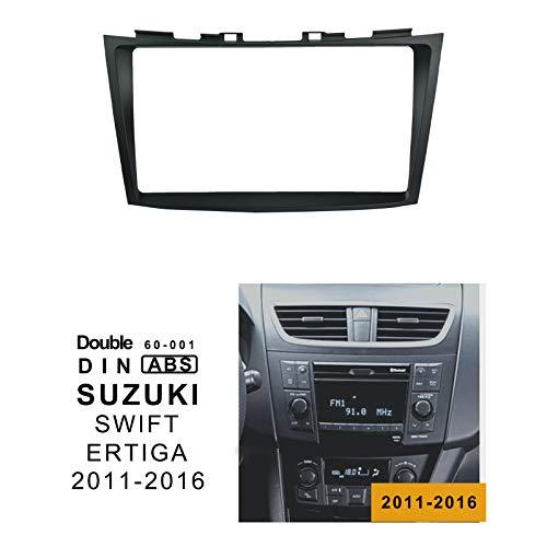 LEXXSON Doppel-Din Autoradio Einbaurahmen Radioblende für Autoradios 9 Zoll Autoradios für Suzuki Swift 2011-2016 / ERTIGA 2012-2017 (2015 Auto Doppel Din Stereo)