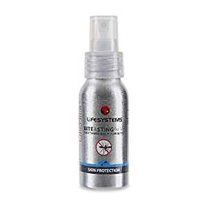 41iYbP1RcAL. SS300  - Lifesystems Unisex's Bite & Sting Relief, 50ml Spray Insect Repellent, Silver, One Size