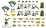 Magma Brick Gilet tattico, Arma, equipaggiamento da Guerra e Armi nel Campo di Battaglia della Foresta Compatibile con Lego