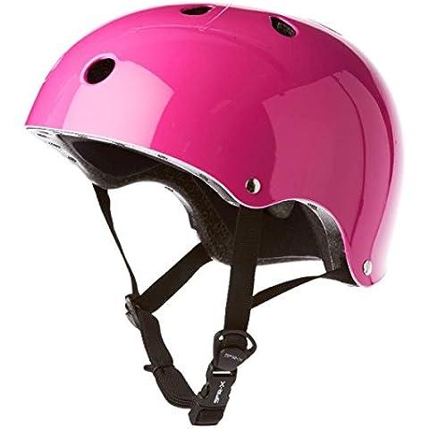SFR Essentials - Casco para patinaje o ciclismo Stickers Pink Talla:53-56cm