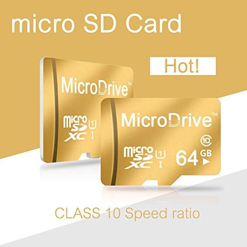 512 GB Micro SD 100% Reale Kapazität High Speed - Class 10 / SDHC/SDXC Gold (512 GB, Gold)