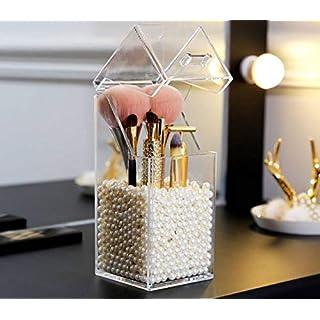 Golden_flower Anfei Acryl Make-Up Pinsel Eimer Beauty Brush Cartridge Pinsel Eimer Pinsel Aufbewahrungsbox Staub und Grau, PS Kleiner Bürsteimer