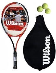 Wilson Federer 25 Raquette de tennis avec 3 balles RRP