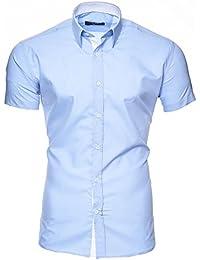 Kayhan Herren Kurzarm Hemd Original Mehrere Farben zur Auswahl Bügelleicht Florida