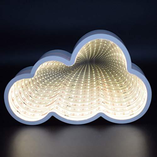 Led Cloud Tunnel Licht Kreative Led Raum-Zeit Spiegel Tunnel Lampe Holiday Home Decor Nachtlicht Mädchen Schlafzimmer Nachttischlampe in Wand - Kleinkind-mädchen-wand-spiegel