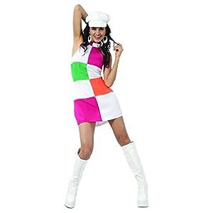 Reír Y Confeti - Fiadis016 - Disfraz Para Adultos - Sixties Disco Disfraces - Mujer - Talla S