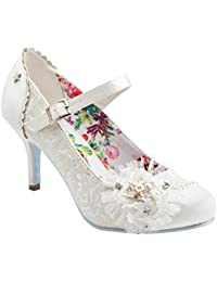 f64329c56842 Joe Browns Hitched Vintage Ivory Lace Bridal Shoes