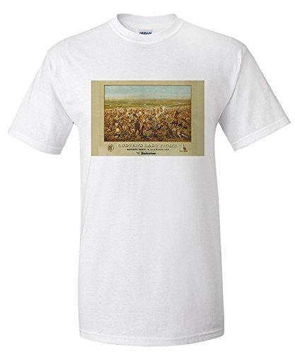 custers-last-fight-anheuser-busch-budweiser-vintage-poster-artist-becker-usa-c-1936-premium-t-shirt