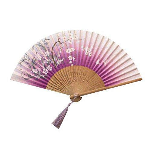 Falten Hand Held Fan Bulk für Frauen Retro Fabric Fan Schöne Handfächer