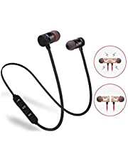 LIMESHOT Light Weight Magnetic Bluetooth Headset Earphone & Calling Function Support for All Smartphone (Assorted Colour)