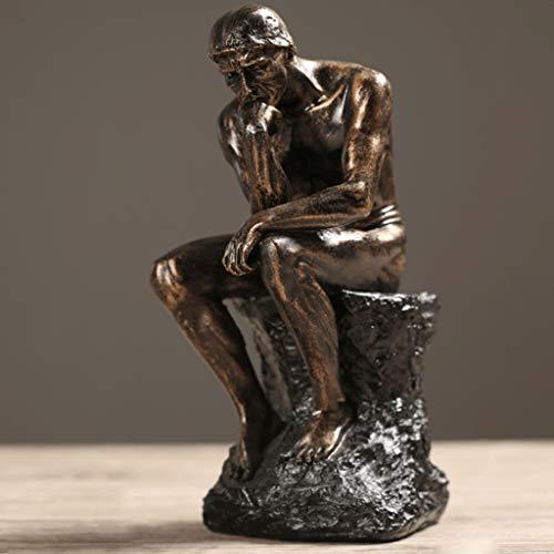 DYY Rodin Pensador Estatua Bella Arte Escultura Desnudo