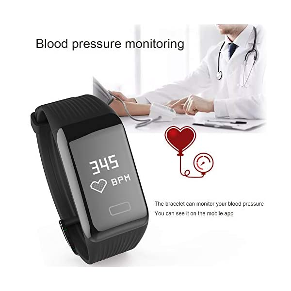LIGE Smart Watch Pedometer Fitness Tracker English Version GPS Positioning Bluetooth Smart Bracelet Activity Tracker Sleep Monitor Calorie Heart Rate Monitoring Men Woman Unisex