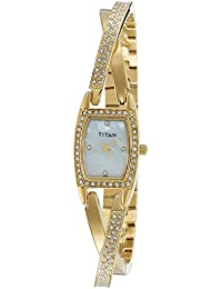 Titan Purple Analog White Dial Women's Watch -NM9851YM01 / NL9851YM01