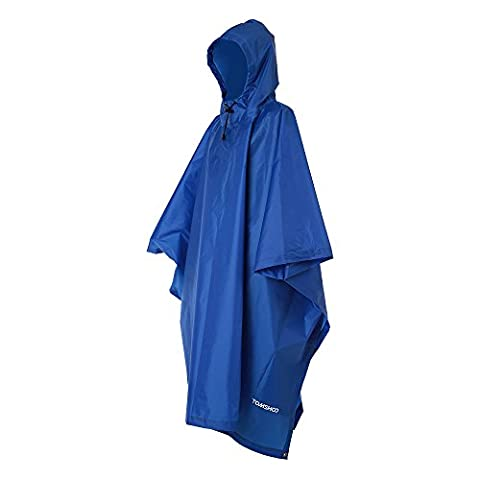 TOMSHOO Multifunctional Lightweight Raincoat with Hood Hiking Cycling Rain Cover Poncho Rain Coat Outdoor Camping Tent
